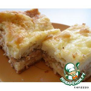 Рецепт: Пирог с рыбой (не дрожжевой)