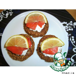 Рецепт Гречневые мини-блинчики с лососем