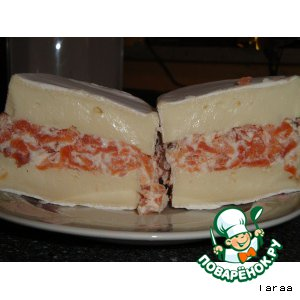 Рецепт: Мягкий сыр с рыбной начинкой