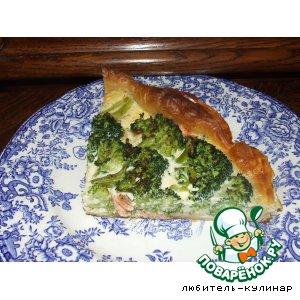 Рецепт: Тарт с семгой и брокколи