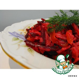 Рецепт: Свекольный салат с грушей