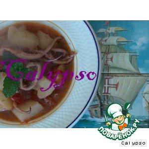 """Рецепт: """"Калдейрада"""" из кальмаров - Caldeirada de lulas"""