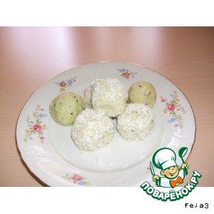 Рецепт: Конфеты Рафаэлло из киви