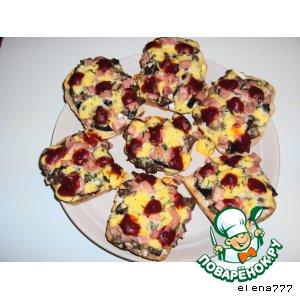 Рецепт: Горячие бутерброды Ленивая пицца