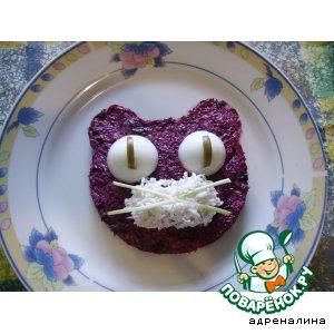 """Рецепт: Свекольный салат """"Кошечка"""""""