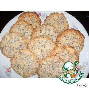 Рецепт: Кокосово-миндальное печенье с маком постное