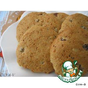 Рецепт: Овсяно-медовое печенье с изюмом
