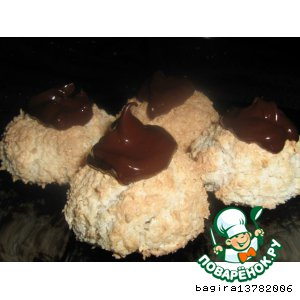Рецепт: Боккончини с кокосом и шоколадом