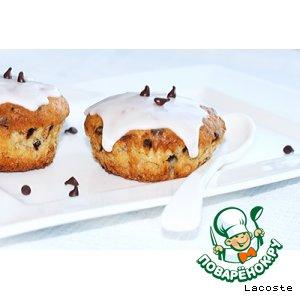 Рецепт: Творожно-банановые кексы с шоколадными чипсами
