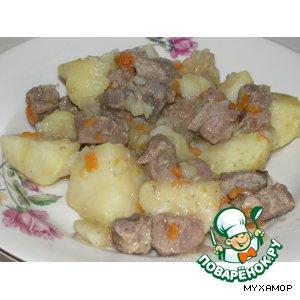 Рецепт: Мясо, тушеное с картошкой
