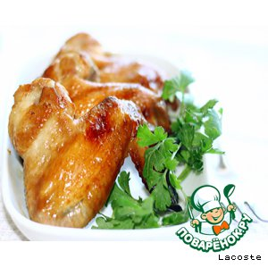 Рецепт: Золотистые куриные крылья