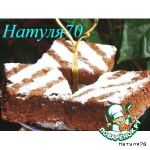 """Рецепт: Шоколадное пирожное """"Зебра"""""""