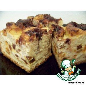 Рецепт: Пирог творожный «Миланский»