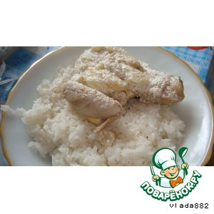 Chicken with steamed rice