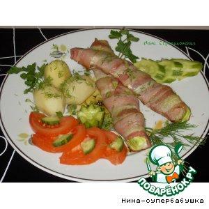 Рецепт Кабачок в беконе