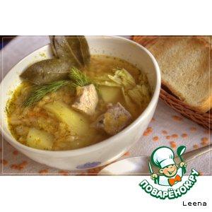 Рецепт: Суп с красной чечевицей и сельдереем