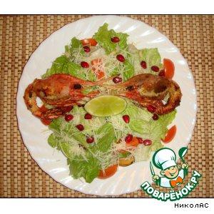 Рецепт: Гранатовые оcтрова с пикантным лаймом