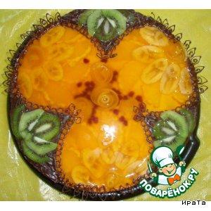 Рецепт: Торт фруктовый с киви