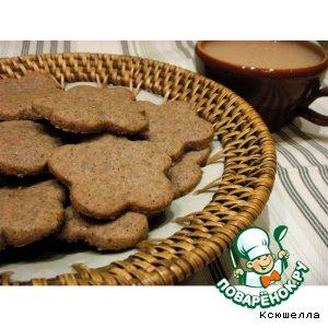 Рецепт: Гречнево-кофейное печенье