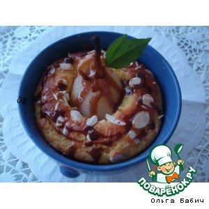 Рецепт: Миндальный кекс Её Величество груша