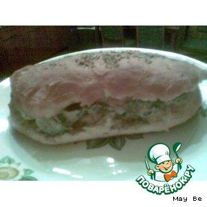 "Рецепт: Сэндвич ""В дорогу"""