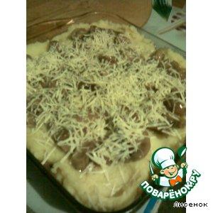 Рецепт: Картофельно-чесночное пюре под грибным покрывалом