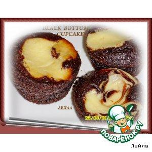 Рецепт: Шоколадные маффины с крем-чизом