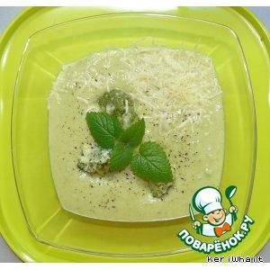 Рецепт: Суп-пюре из цветной капусты и брокколи