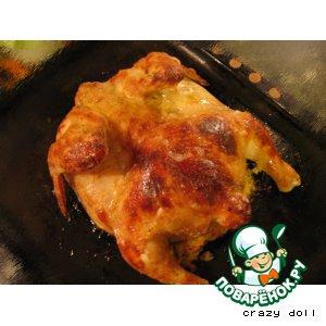 Рецепт: Курица на горке