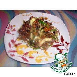 Рецепт: Салат с сырным омлетом
