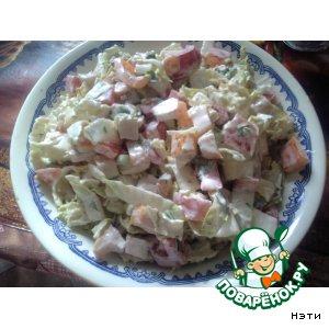 Рецепт: Салат с копчeной грудинкой