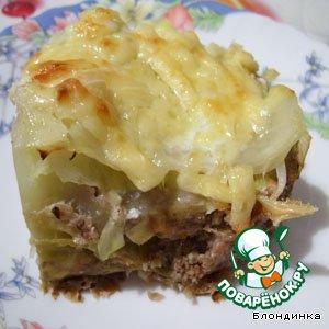 """Рецепт: """"Лазанья"""" из капусты с орехами"""