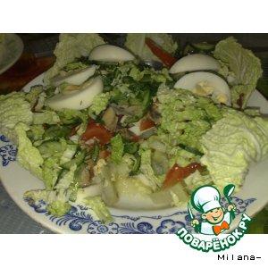 Рецепт: Салат из скумбрии с зеленью