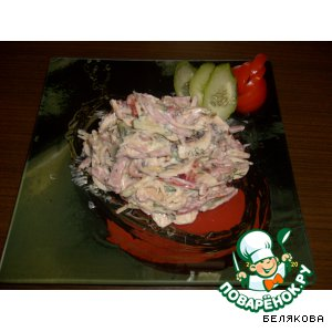 Салат со свежими шампиньонами – кулинарный рецепт