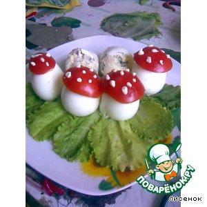 Рецепт: Закуска Мухоморы-от всей души