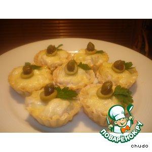 Рецепт: Тарталетки с курицей и грибами
