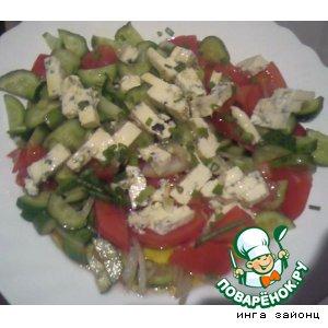 "Рецепт: Салат ""сыр на овощах"""