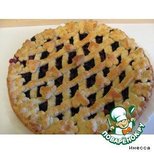 Рецепт: Открытый черничный пирог