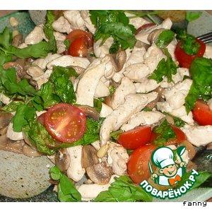 Рецепт: Салат с рукколой