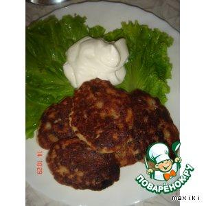 Рецепт: Оладушки  мясные