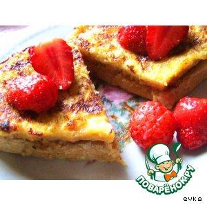 Рецепт: Гренки к завтраку