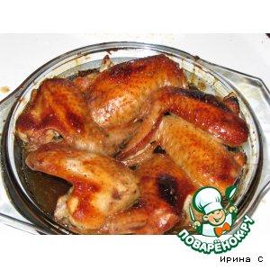 Рецепт: Куриные крылья  медовые