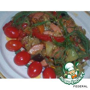 Рецепт: Салат из жареных огурцов