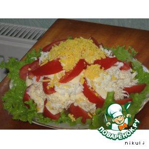 Рецепт: Салат Помидор-гора