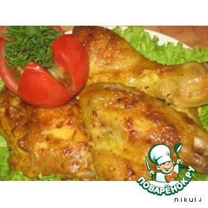 Рецепт: Курица в пряном маринаде