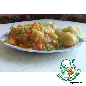 Рецепт: Овощное рагу Рататуй