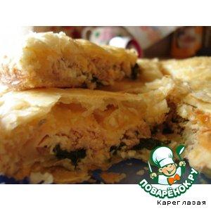 Рецепт: Пирог с рыбой и шпинатом