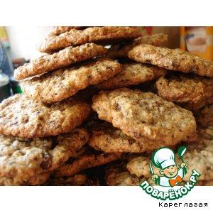 Рецепт: Праздничное овсяное печенье