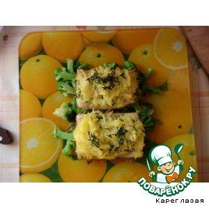 Рецепт: Рыба с хрустящей картофельной корочкой