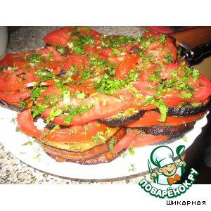 Рецепт: Баклажаны и помидоры